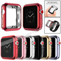 Soft TPU Frame Bumper Protective Slim Case Cover For Apple Watch Series 4 3 2 1