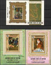 073 Aden / Seiyun 1967 Art Paintings Gauguin Renoir 3 S/S MNH**