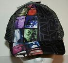 Star Wars Black & Gray MeshTrucker Hat Baseball Cap New Boys Kids OSFA Tags 2013