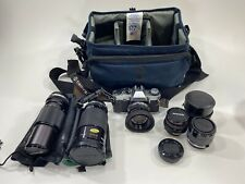 Olympus OMG Camera 35mm Japan Lot Untested Kiron With Case And Extras Nice!!!