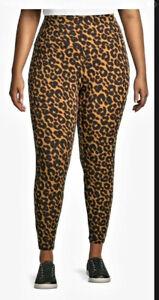 Terra & Sky Women's Soft Leopard Leggings Size 5X(32W-34W) New