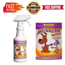 Anti Icky Poo Odor Remover Unscented Max Size Mister Gallon, 16 Oz. Odor Remover