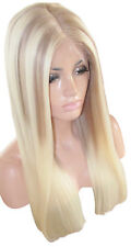 "IN STOCK Remy Human Hair Wig Full Lace 22"" Long Ombre Brown 8 Blonde 613 Moklox"