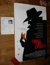 SIGNED Woody Allen Small Time Crooks ORIGINAL Movie POSTER 2 Sided 27x40 JSA LOA