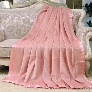 mulberry silk blanket throws velvet bed cover spring autumn blankets queen king