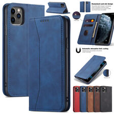 For iPhone 12 Pro Max 11 8 7 Plus Xs Xr Magnetic Leather Wallet Case Flip Cover