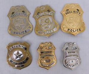 Obsolet Vintage Lot of 6 - Security Badges