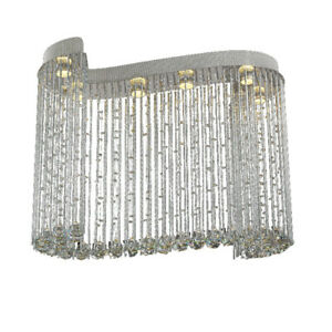 Modern Luxury Crystal Ceiling Lamps Chandelier Light S Type Hanging Pendant Lamp