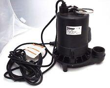 Simer 1/2hp Cast Iron Sump Pump 4800 GPH 80 GPM Float Switch PSC Motor 5950