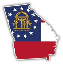 Georgia USA State Map Flag Car Bumper Sticker Decal 5'' x 5''