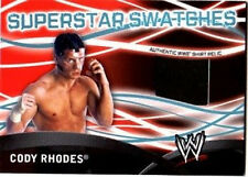 WWE Cody Rhodes Topps 2011 Superstar Swatches Event Used Shirt Relic Card