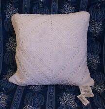 NWT Ralph Lauren Biarritz Knit Pillow 1st Quality White 20 inches Biaritz