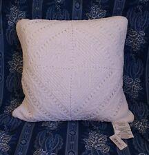 NWT Ralph Lauren Biarritz Knit Pillow 1st Quality White 20 inches Biaritz