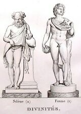 """""""Musee des Antiques"""" Eng. -c1811- STATUES OF DIVINITIES"""