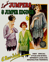 Leach's 6D #24 c.1920 Flapper era Knitting & Crochet Patterns for Women Sweaters
