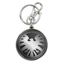 Marvel Avengers Film Official Shield Eagle Logo Pewter Key Chain Agent Nick Fury