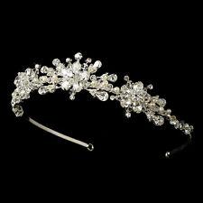 CLOSEOUT Price Swarovski Crystal Freshwater Pearl Snowflake Bridal Wedding Tiara