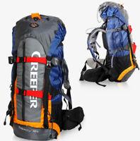 Large Waterproof 65L Outdoor Sports Backpack Hiking Travel Internal Frame Bag N