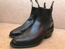 RM Williams  Yearling Boots Cuban Pointed Black Cowboy Sz Aus/UK 6 G | US 7