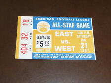RARE VINTAGE 1967 AFL FOOTBALL ALL STAR GAME TICKET STUB  EX-MINT