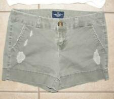 AMERICAN EAGLE Olive Green Small 4 / 6 Casual Wear Distressed Cotton Shorts