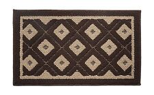 "Soft and Durable Microfiber Bathroom Shower Accent Rug, 30"" x 18"" Brown"