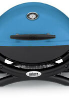 Weber Q 1200 1-Burner Portable Propane Gas Grill Combo in Blue with Rolling Cart