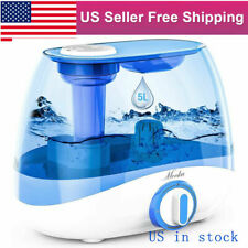5L Large Tank Ultrasonic Humidifier Home Room Office Cool Mist Diffuser Atomizer