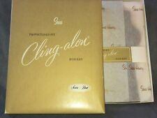 Vintage NEW Hosiery SEARS CLING-ALON Stockings ~ 3 prs Tealeaf sz B 10-11 Box