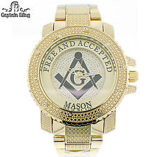 Men's Masonic  Dress Havy duty Watch  by ICE NATION /CAPTAIN BLING # WM431 New