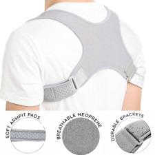 Posture Corrector  Upper Back Brace Clavicle Shoulder Neck Pain Grey Men Women