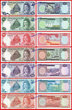 CAYMAN ISLANDS SET 1 5 10 25 40 50 & 100 Dollars dolares 1974 Pick 5a-11 UNC