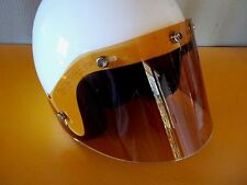 Open face helmet 5 Snap Shield AMBER Vintage style
