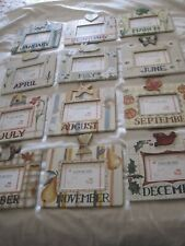 Exposures Set of 12 Monthly Themed Hand Painted Wood Easel/Hanger Frames-Baby?