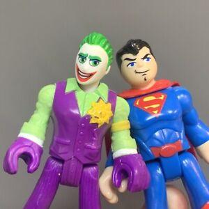 2X Imaginext DC Super Friend Joker Superman Action Figure Fisher-Price Doll Toy