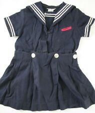 Vintage Child Sailor Suit 2 pc dress by  Good Lad  Toddler Size 4T Navy