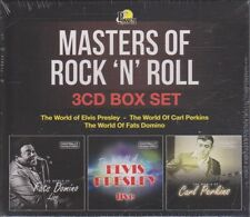 New CD - Masters of Rock 'N' Roll - 3CD Box Set - Elvis, Fats & Carl