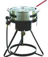 10.5 Qt Commercial Grade Propane Outdoor Fish Fryer Cooker Cook Stand Gas Burner