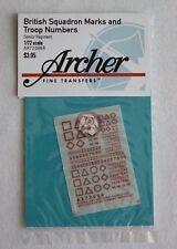 Archer Fine Transfers 1/72 British Squadron Signs Senior Regiment (Red) AR72086R