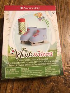 American Girl Wellie Wishers Winter Fun Hot Cocoa & Skating Set NIB NRFB RET