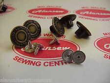5 x 17 mm De Repuesto De Conjuntos De Calidad De Bronce Jean Stud Botones