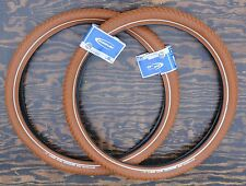 "26""x2.15 Red Brown Schwalbe BB Cruiser Bicycle Tires Vintage Schwinn Prewar Bike"
