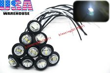 """10x 3/4"""" Marker Lights Triple Diode LED Truck Trailer Clearance Indicator White"""
