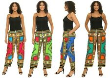 Dashiki African Womens Mens Pants Cotton Aladdin Yoga Harem Unisex One size