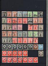 Deutsches Reich Dienstmarken, Sammlung gestempelt