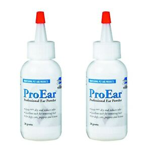 Ear Powder Hair Remover for Dogs and Cats 2 Pack from Top Performance