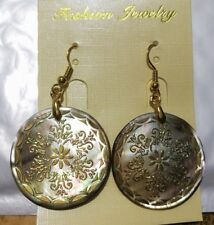NEW 35x35mm beautiful abalone shell flowery earrings AAA