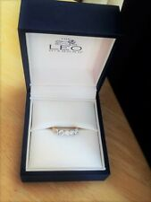 Band of 5 Diamonds Engagement Ring, 18Ct Yellow & White Gold Leo Diamond