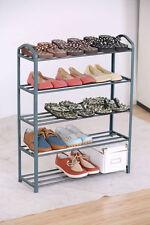 Metall Schuhregal mit 5 Etagen bis 15 Paar - Schuh Ständer Schuhablage Bad Regal