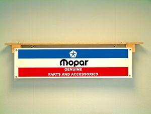 Mopar Banner Garage Workshop Sign Car Display Dodge Chrysler Parts advertising